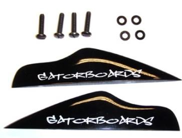 Gatorboards Gonzalez fin set fiber black (2 pack)