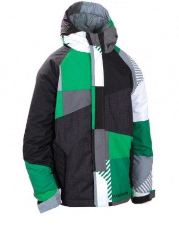 686 Boys Mannual Max jacket green 5K (boys L 12-14 yrs)
