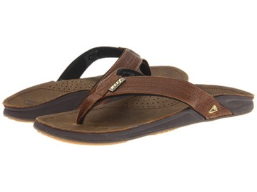 Reef J-Bay 3 male leather slippers camel