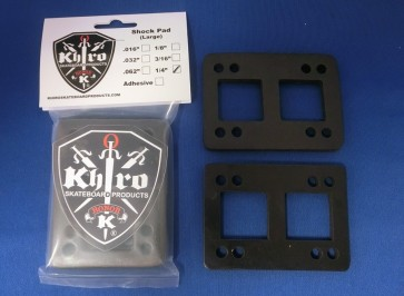 Khiro Flat rubber shock pad risers (2 pack)