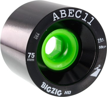 Abec 11 BigZig HD wheels black 75 mm 74a
