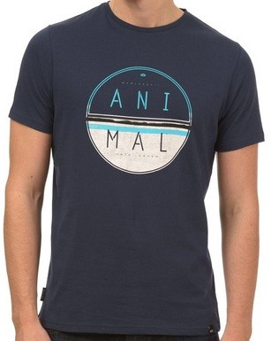 Animal Lamary T-shirt navy blue