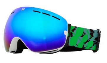 Aphex Krypton junior goggle white - revo blue lens