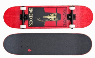 """Birdhouse Stage 3 Plague doctor 8"""" skateboard red"""
