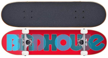 """Birdhouse Opacity Logo 2 red 8"""" skateboard complete Stage 1"""