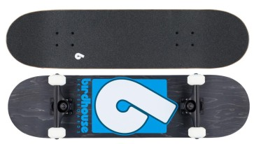 "Birdhouse Stage 3 B logo 8"" skateboard black blue"