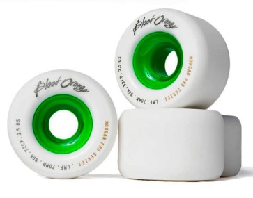 Blood Orange Liam Morgan Pro Model 70mm 80a wheels white green