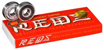 Bones Super Reds skateboard bearings 8x608 8 pack