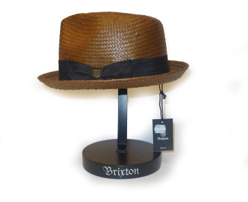 Brixton Castor Fedora hat brown-black
