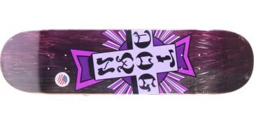 """Dogtown Purple Cross 8.75"""" skateboard deck"""