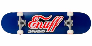 "Enuff Geo Skull 8"" skateboard complete green"