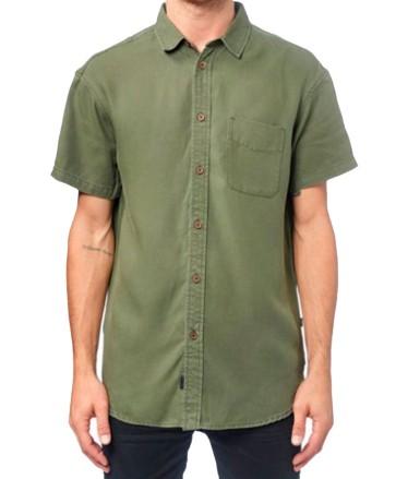 Globe Sometime shirt woodland green