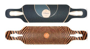 "Loaded TanTien Abstract 39"" deck only longboard"
