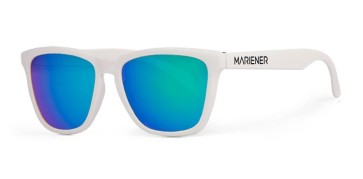 Mariener Melange White flexible frame sunglasses sky