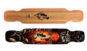 "Moonshine Hoedown medium flex 48"" complete dancer longboard"