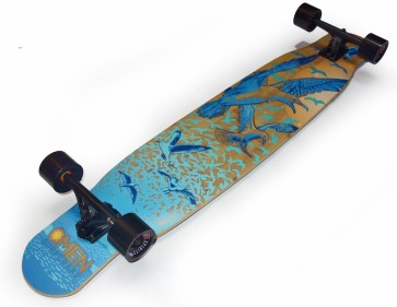 "Omen Flock 46"" complete freestyle dancer longboard"