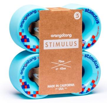 Orangatang Stimulus 70 mm longboard wheels blue