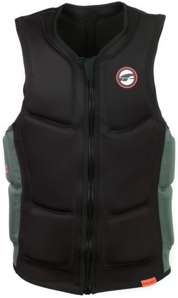ProLimit Slider vest half padded FZ black-orange-green