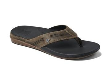 Reef Cushion Lux slippers tan black