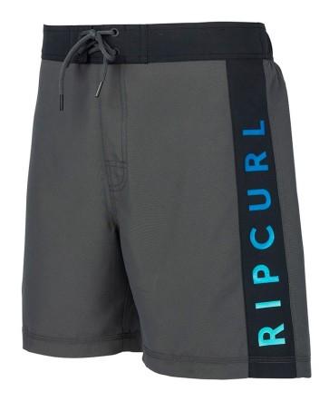 "Rip Curl Semi elasticated Gradiart 18"" boardshort black"