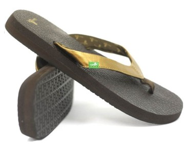 Sanuk Yoga Glam female slippers brown