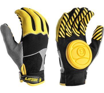 Sector 9 Apex longboard slide gloves yellow