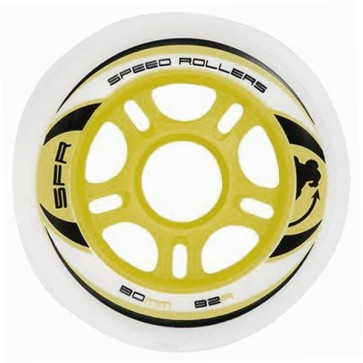 SFR inline wheels 80 mm white 82a (set of 4)