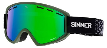 Sinner Bellevue goggle moss green - green oil lens (Cat 3)