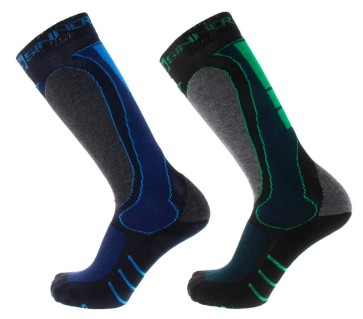 Sinner Geo ski/snowboard socks blue/green (2 pair)
