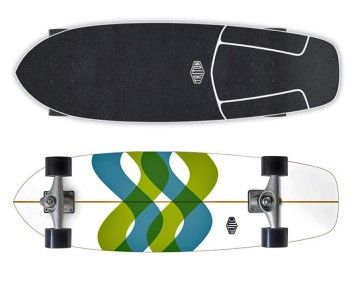"""Triton Signal 31"""" surfskate with Carver CX trucks"""