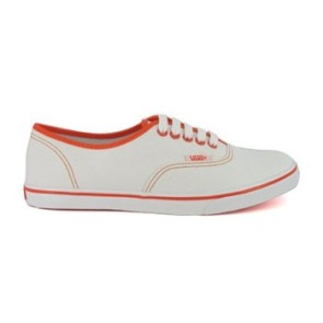 Vans Authentic Lo Pro sneakers wit oranje