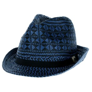 Quiksilver Saga straw hat hyperpurple (blue-black)