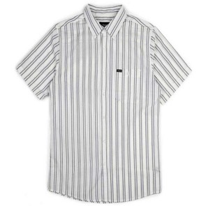 Brixton Howl short sleeve shirt woven off white