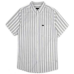 Brixton Howl short sleeve shirt woven off white