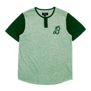 Brixton Major Henley T-shirt heather green