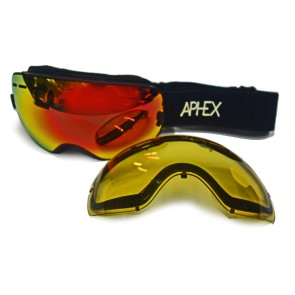 Aphex Krypton junior goggle black with revo red S3 lens + S1 spare lens