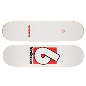 "Birdhouse Logo skateboard deck B logo 8.5"" white"