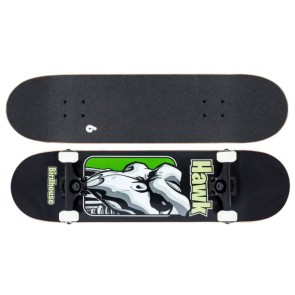 "Birdhouse Stage 3 Hawk 8"" skateboard old school black"