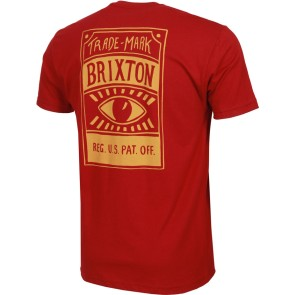 Brixton Foresight premium T-shirt burgundy