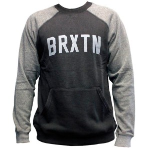 Brixton Hamilton Crew Fleece washed black