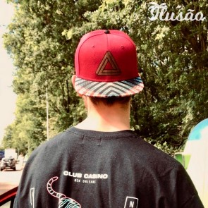 Ilusão Wild as dreams snapback cap rood