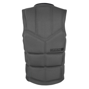 Mystic Brand impact wakeboard vest front zip grijs