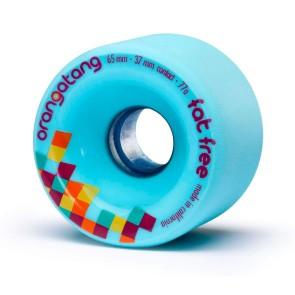 Orangatang Fat Free 65 mm wielen blauw 77a