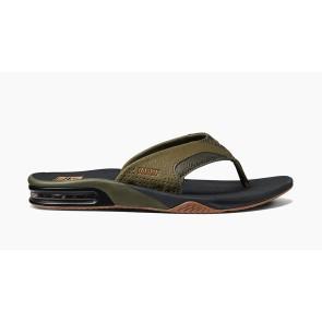 Reef Fanning slippers prints-olijfgroen