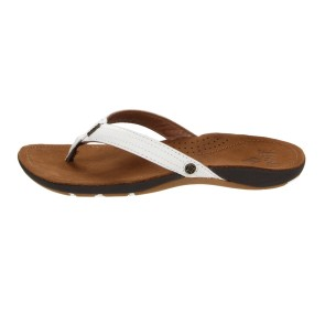 Reef Miss J-Bay leren dames teenslippers tan wit