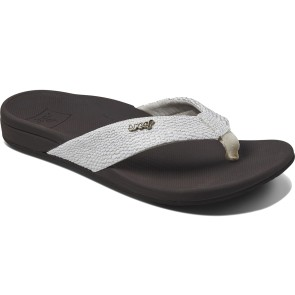 Reef Ortho spring female slippers brown-white