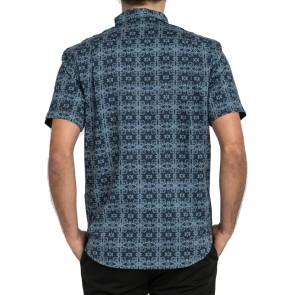 RVCA Vision shirt met korte mouw donker denim
