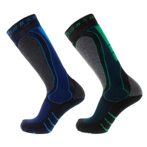 Sinner Geo ski/snowboard socks blue/green (2 pair)