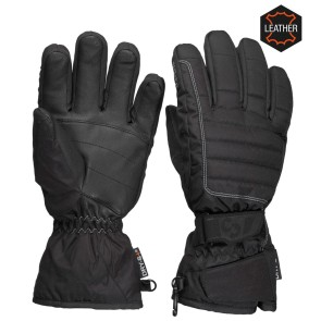 Sinner Mullan gloves leather black ladies