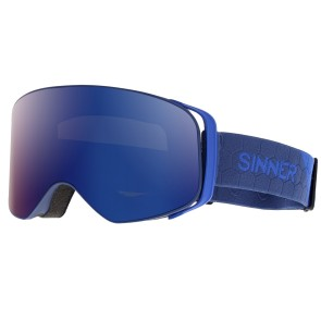 Sinner Olympia goggle matt dark blue - blue mirror lens (Cat 3)